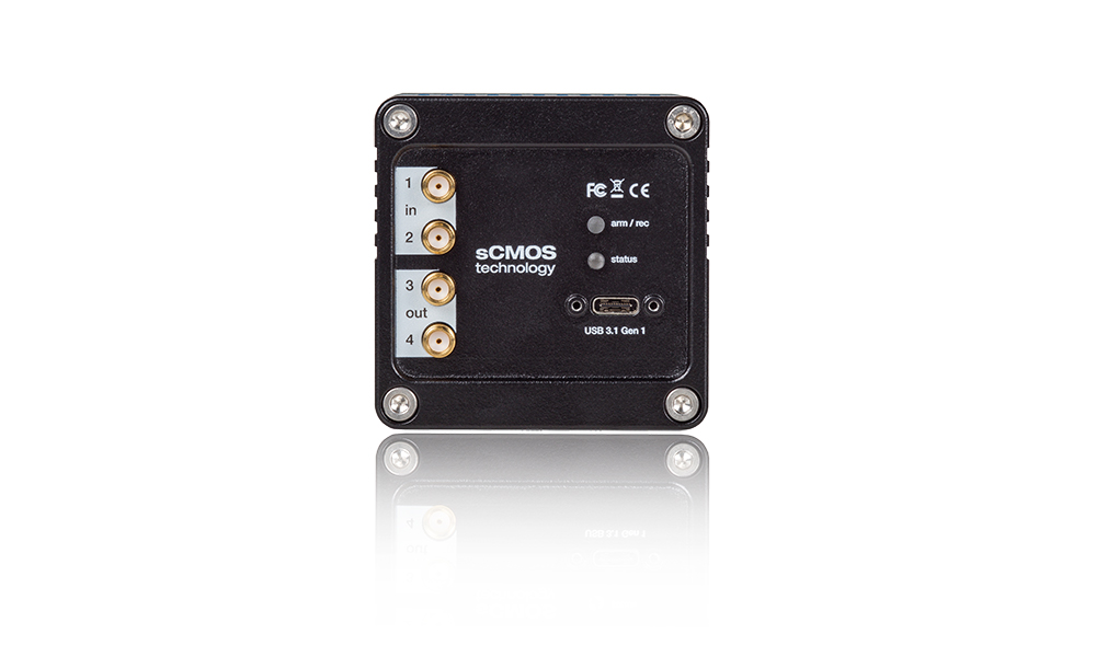 pco.panda 4.2 bi UV sCMOS rear side