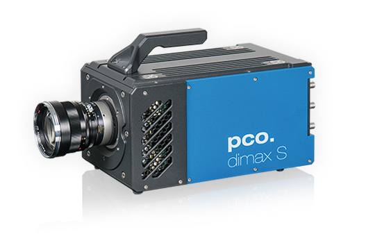 blue highspeed camera pco.dimax S, seen from the left side