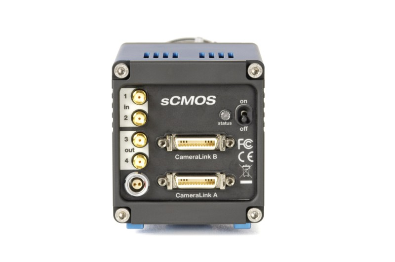 pco.edge 4.2 Camera Link rear view sCMOS