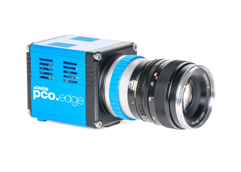pco.edge USB 3.0 sCMOS camera front side view