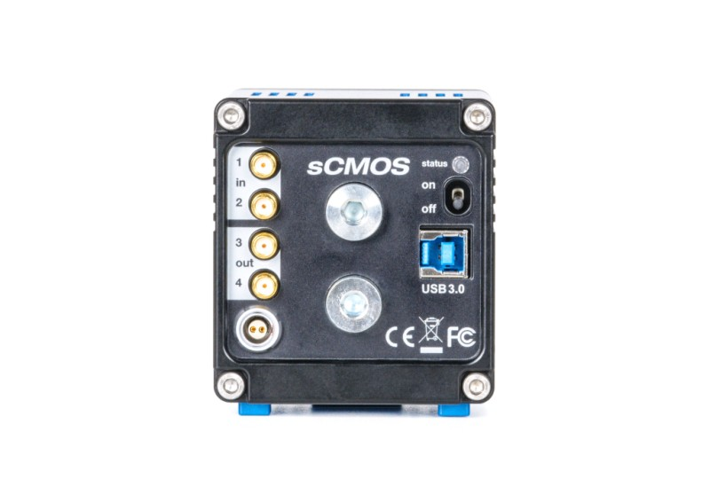 pco.edge 4.2 USB 3.0 rear view sCMOS
